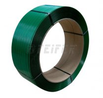 PET Band 19 x 1,00 mm, 406/145 - 850 m, 8000 N, grün, EMBOSS 20%